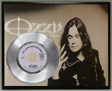 Ozzy Osbourne Poster Art Silver Metalized Vinyl Record Memorabilia Plaque