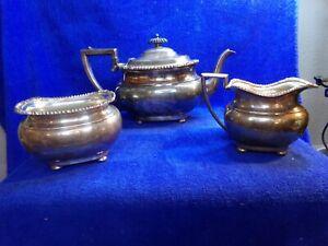 International Silver Co EGW&S. Tea Set  Teapot Sugar and Creamer