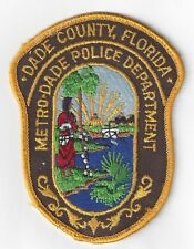 Police Patch Metro-Dade County Florida Police Dept Collectible Patch