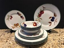 Royal Worcester EVESHAM VALE Dinner Plates Luncheon Plates Cereal Bowls 1986