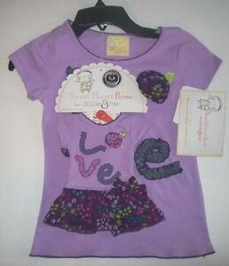 "Sweet Heart Rose Dollie & Me Girls Size 10 Top and Dress for 18"" Doll NEW"