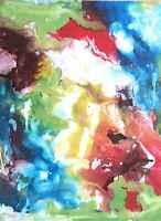 ORIGINAL Acryl Gemälde abstrakt HANDGEMALT modern Kunst Malerei Bild