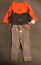 Carters Hanging With Daddy Monkey 3 Piece Bodysuits Pants 24 Months NWT