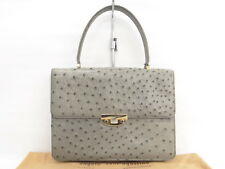 Auth SANTA GOSTINO Ostrich Exotic Leather Hand Bag Italy $0 Ship 36140208800 vG