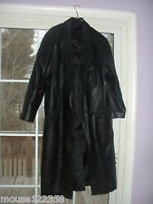 vintage Womens Long  Leather  Coat size L  Gitano