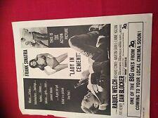 m12r ephemera 1969 film advert lady in cement frank cinatra raquel welch dan