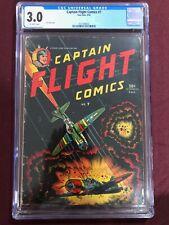 CAPTAIN FLIGHT COMICS 7 CGC 3.0 1945
