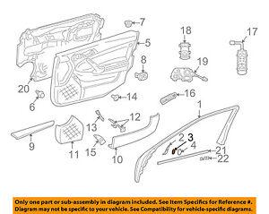 Mercedes MERCEDES-BENZ OEM 01-05 C320 Front Door-Cap Trim 2037660635
