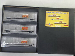 MicroTrains N Scale Ringling Bros 70' Flat Car 3 Pack Item #993 01 400