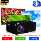 HD 1080P LED LCD 3D VGA HDMI TV Home Theater Movie Projector Cinema Multimedia