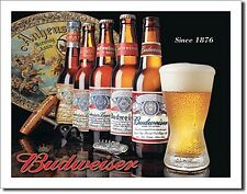 History of Budweiser metal Wall Sign  (sf)