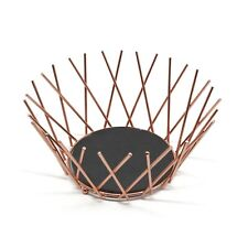 Copper Metal Wire Slate Base Decorative Storage Display Basket Fruit Bowl