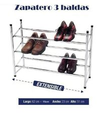 ZAPATERO METALICO 3 BALDAS 18 PARES ORGANIZADOR DE ZAPATOS GUARDA ZAPATOS METAL