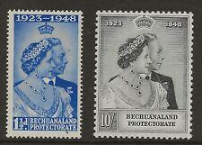 BECHUANALAND  SG 136/7  1948 SILVER WEDDING SET   SUPERB UNMOUNTED MINT