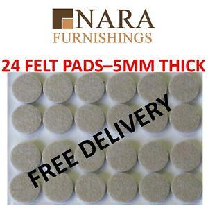 Furniture Felt Pads x 24 - Self Adhesive, Anti-Slip Table Chairs Floor Protector