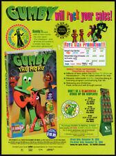 GUMBY: The Movie__Original 1995 Trade print AD / video promo__ART CLOKEY__Pokey