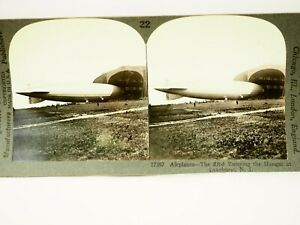 The ZR-3 Entrer The Suspension À Lakehurst N.j. Keystone Stéréogramme Carte Rare