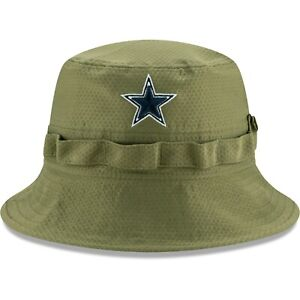 Dallas Cowboys New Era Salute To Service Green Bucket Hat - 2019  Free Ship
