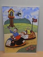 Emaillen bord 99/99 gesigneerd Urbanus / Willy Linthout Tessenderlo 2007