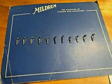 New Mildrum Spinning Fly rod Guides 11pc Set with Salesman Sample Board supplies