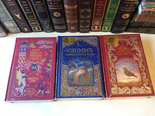 3 Books of Fairy Tales - leather-bound -  Andersen, Grimm, Lang - new