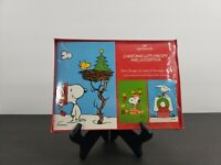 Vintage Hallmark CHRISTMAS with SNOOPY and WOOSTOCK 24 CARDS IN BOX 3 DESIGNS