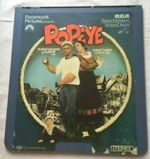 VideoDisc CED Disc- Popeye 1982 Robin Williams S Duvall Comedy Paramount RCA