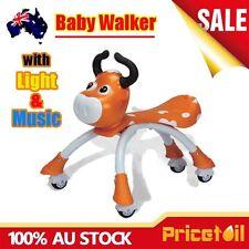 Brown Baby Walker Ride On Toy Kids Bike Bicycle Music Light Push Scooter Toddler
