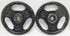 """Set Of 2 10 Lb Pound Standard 1"""" Grip Barbell Weight Plates"""