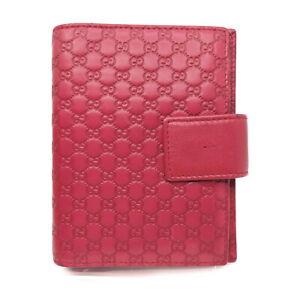 Gucci Diary Cover Agenda Micro Guccissima Reds Leather 1521161