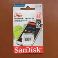 New SanDisk Ultra 32GB Micro SD MicroSDHC 80MB/s Class 10 Flash Memory Card