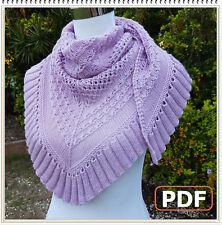 PDF Pattern: Knitted Shawl Wrap Cornubia Shawl