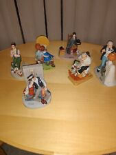 Norman rockwell figurines lot
