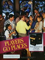 1984 Players Kings & 100's Cigarettes Players Go Places Smoking Party Print Ad