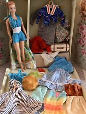 Vintage Barbie Doll & Case Clothes Lot