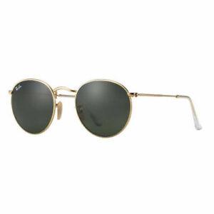 RayBan Round Sunglasses - Gold Green Classic G-15 - 3447 001 50-21