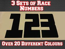"""3 conjuntos de carrera números 8"""" 200 mm Motocross Calcomanías Pegatinas de vinilo N28 Bicicleta de pista"""