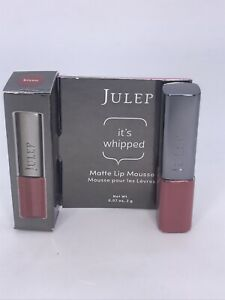 JulepIt's Whipped Matte Lip Mousse BISOU Deluxe Travel Mini 0.07 oz / 2g