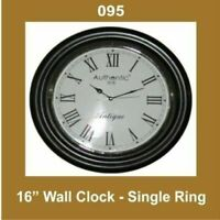 New Wall Clock 16'' Single Ring Nautical Roman Number