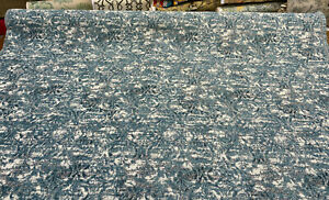 Mill Creek Beecher Aqua Teal Chenille Upholstery Fabric by the yard