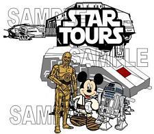 Disney World Disneyland Star Tours with Mickey Ears Scrapbook Die Cut Piece