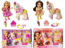 Disney Princess Petite Dolls Rapunzel and Belle + Ponies Twin Pack  Brand New