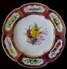 Set of 8 RARE Outstanding MINTON Pink Flora Plates - each unique hand painted