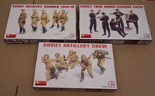 MiniArt 35044 35034 35031 1:35 Soviet WWII figures lot of 3 items