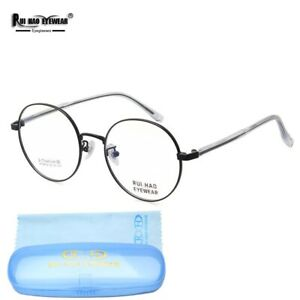 Round Glasses Eyewear Women Eyeglasses Fullrim Frame Titanium Spectacles Oculos