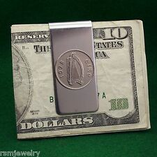 Irish Celtic Harp Coin Money Clip, 5 Pence (Large) Ireland