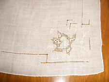 Vintage Pulled Thread Wedding Hanky Handkerchief Hankie