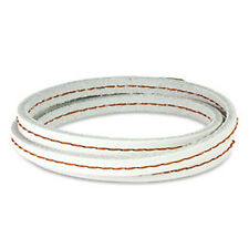 White Leather Triple Wrap Bracelet Wristband Stitch K48