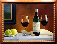 "Thomas Stiltz ""Drapers Best"" Original Oil Painting on Canvas wine framed"