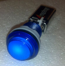 Blue illuminated arcade button with led and microswich